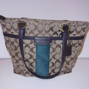 Coach Material Bag with Leather Tabs